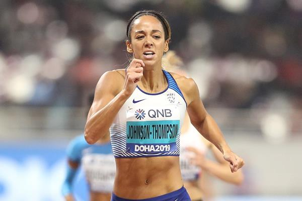 Katarina Johnson-Thompson en route to the heptathlon title at the IAAF World Championships Doha 2019 (Getty Images)