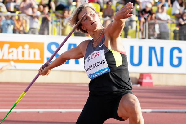Barbora Spotakova in action in the javelin at the Diamond League meeting in Lausanne (Gladys Chai von der Laage)