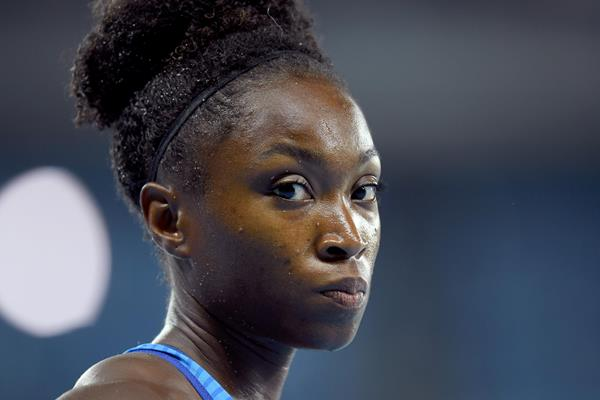 Tianna Bartoletta during the women's long jump final at the 2016 Rio Olympic Games (Getty)