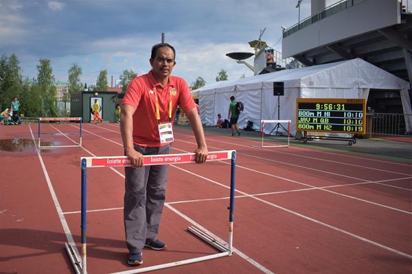 Indonesian sprinting coach Kikin Ruhudin (Cathal Dennehy)