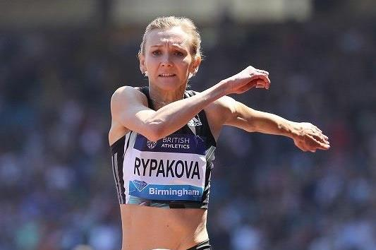 Olga Rypakova at the 2016 IAAF Diamond League meeting in Birmingham (Jean-Pierre Durand)