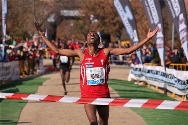 All smiles! A big win for Kidane Tadese in Alcobendas (Miguel Alfambra)