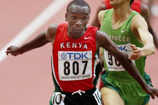 Eliud Kipchoge winning the 2003 world 5000m title (Getty Images)