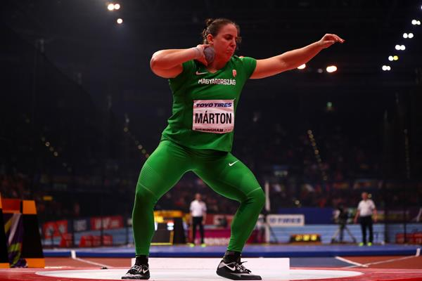 Anita Marton in the shot put at the IAAF World Indoor Championships Birmingham 2018 (Getty Images)