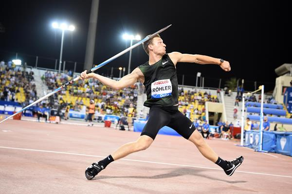 Thomas Rohler supreme again in the javelin at the IAAF Diamond League meeting in Doha (Hasse Sjogren)