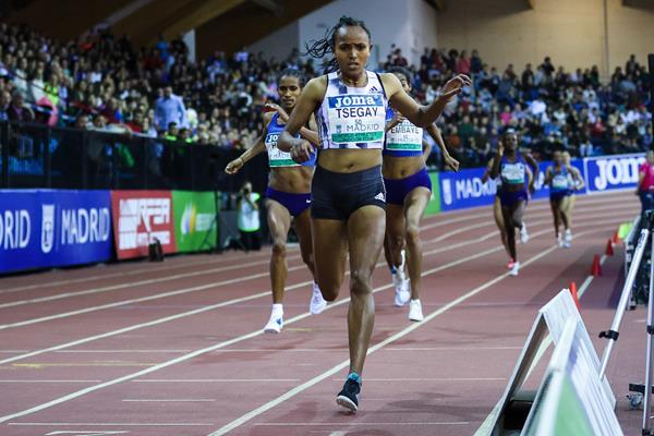 Madrid 1500m winner Gudaf Tsegay (Dan Venon)