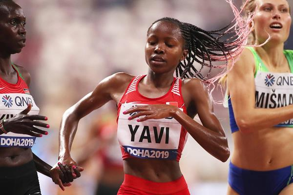 Winfred Mutile Yavi at the IAAF World Athletics Championships Doha 2019 (Getty Images)