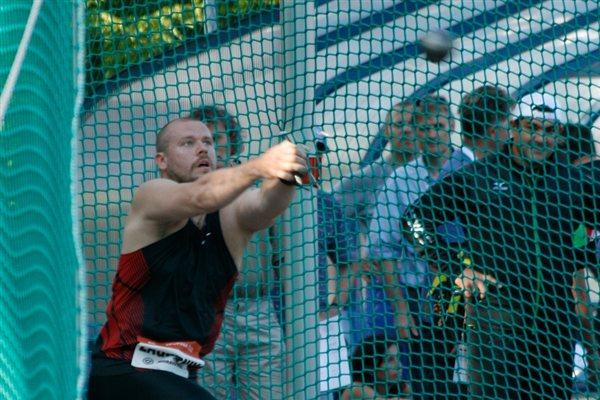 Aleksey Zagorniy, Ostrava Hammer Throw winner (Bob Ramsak)