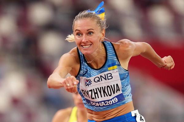 Anna Ryzhykova at the IAAF World Athletics Championships Doha 2019 (Getty Images)