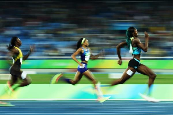 Shaunae Miller in the 400m at the Rio 2016 Olympic Games (Getty Images)