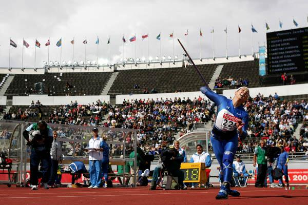 Mikaela Ingberg of Finland in the Javelin Throw (Getty Images)