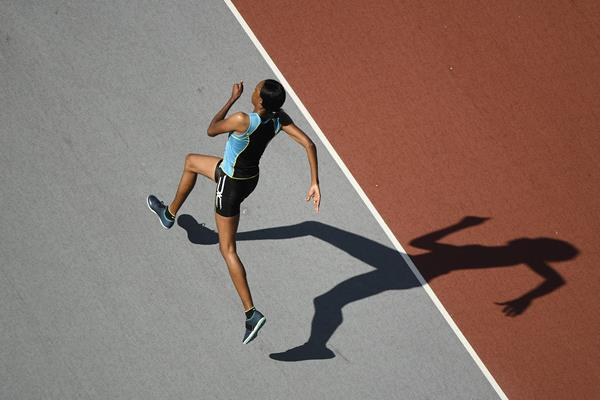 St Lucia's Levern Spencer in action in the high jump (Getty Images)
