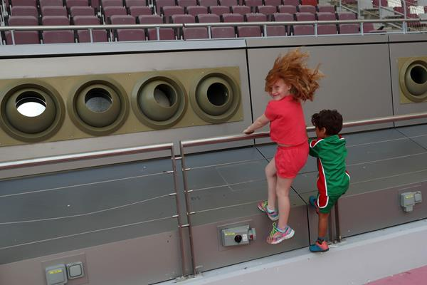 Cooling system in action at Doha's Khalifa Stadium (LOC)
