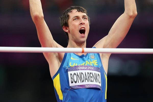 Ukraine's Bogdan Bondarenko in the 2012 Olympic High Jump final (Getty Images)