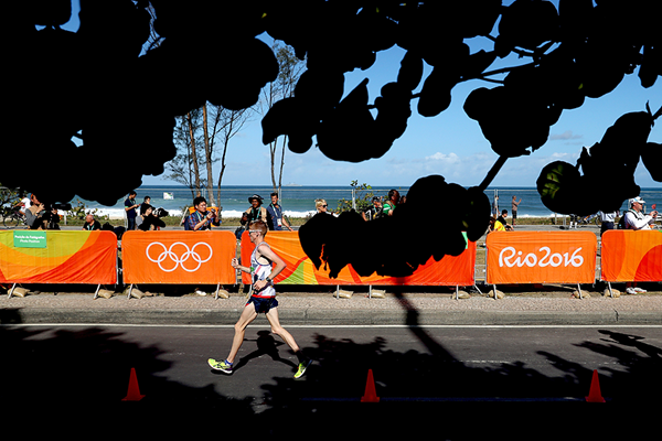 Tom Bosworth in the 20km race walk at the Rio 2016 Olympic Games (Getty Images)