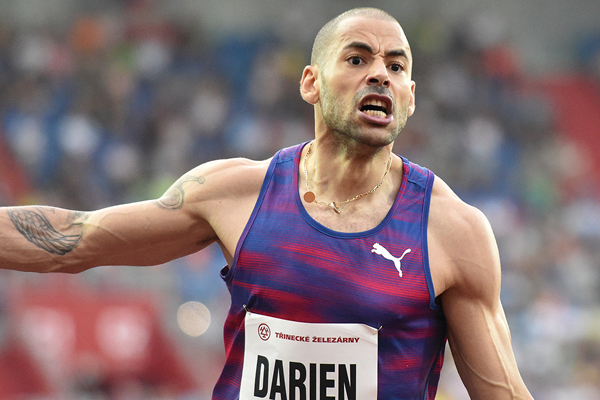 Garfield Darien, winner of the 110m hurdles at the Golden Spike meeting in Ostrava (AFP / Getty Images)