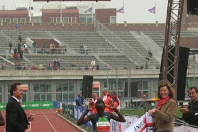 Rose Cheruiyot takes a commanding win in Amsterdam (Race organisers)