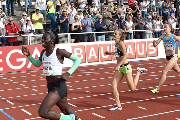 Francine Niyonsaba wins the 800m at the IAAF Diamond League meeting in Stockholm (Hasse Sjogren)