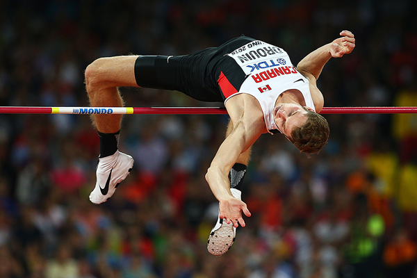 Derek Drouin in the high jump final at the IAAF World Championships Beijing 2015 (Getty Images)
