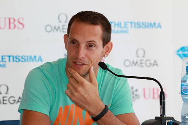 Renaud Lavillenie ahead of the 2015 IAAF Diamond League meeting in Lausanne (Victah Sailer)