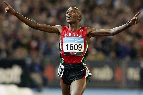 Augustine Choge, triumphant over 5000m at the 2006 Commonwealth Games (Getty Images)