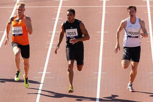 Joshua Ross on his way to winning the 200m at the 2013 Australia Championships (Getty Images)
