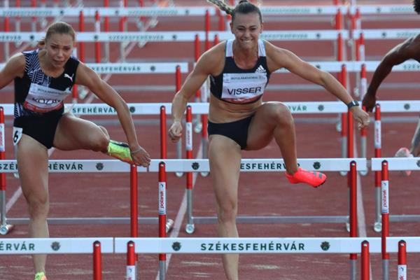 Hungary's Luca Kozak and Nadine Visser in Szekesfehervar (Bob Ramsak)