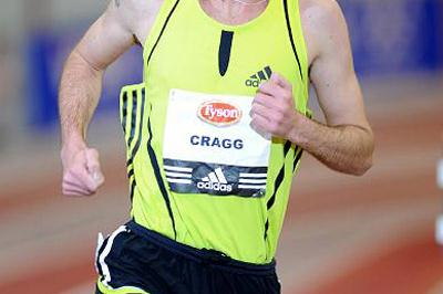 Alistair Cragg produces a world-leading 5000m in Fayetteville (Kirby Lee)