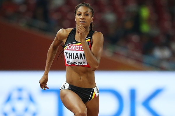 Nafissatou Thiam in the heptathlon 200m at the IAAF World Championships Beijing 2015 (Getty Images)
