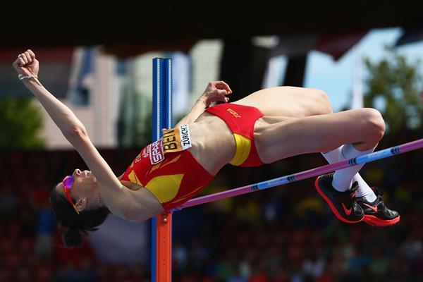 Ruth Beitia successfully defends her European high jump title (Getty Images)