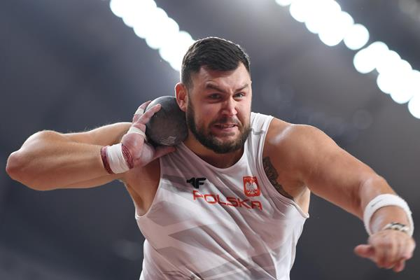 Konrad Bukowiecki at the IAAF World Athletics Championships Doha 2019 (AFP / Getty Images)