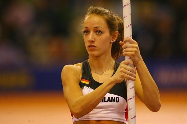 Anna Battke at the 2008 World Indoor Championships in Valencia (Getty Images)