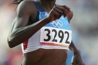 Sheena Johnson of the US in the women's 400m Hurdles (Getty Images)