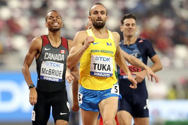Amel Tuka in the 800m at the IAAF World Athletics Championships Doha 2019 (Getty Images)