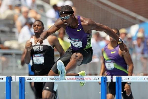 Bershawn Jackson takes the 400m Hurdles at the 2010 USATF Nationals (Getty Images)