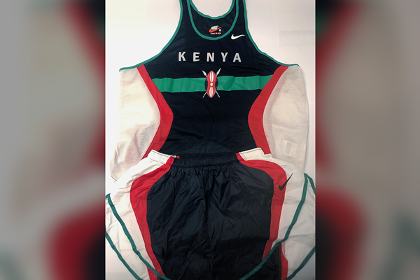 Paul Tergat's kit from the 1997 IAAF World Cross Country Championships (IAAF)