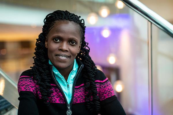 Kenyan marathoner Brigid Kosgei (Dan Vernon)