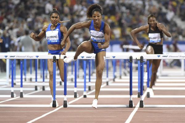 Convincing victory for Kendra Harrison in Doha (Hasse Sjogren/Jiro Mochizuki)