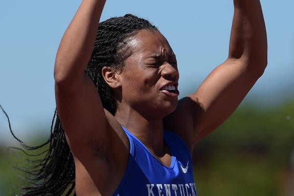 Dezerea Bryant at the 2015 NCAA Championships (Kirby Lee)