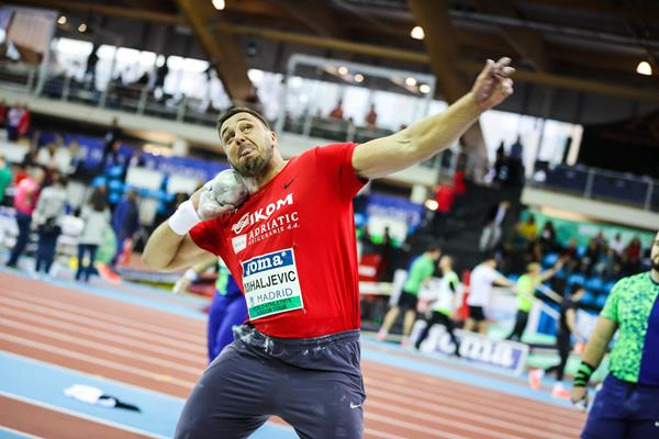 Filip Mihaljevic improves to 21.74m in Madrid (Dan Vernon)