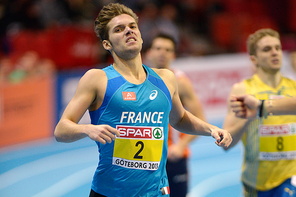 Kevin Mayer in the heptathlon at the 2013 European Indoor Championships in Gothenburg (AFP / Getty Images)