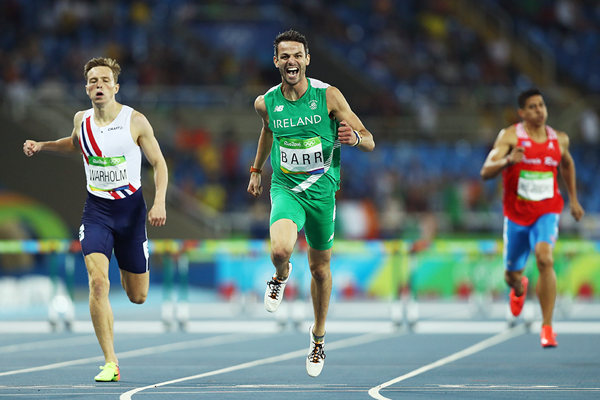 Thomas Barr in the 400m hurdles at the Rio 2016 Olympic Games (Getty Images)