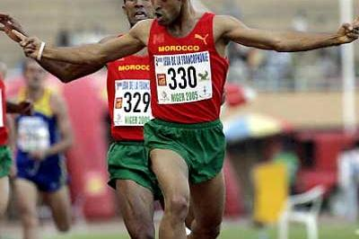 Yassine Bensghir clinches victory in the 1500m - Niger (AFP/Getty Images)
