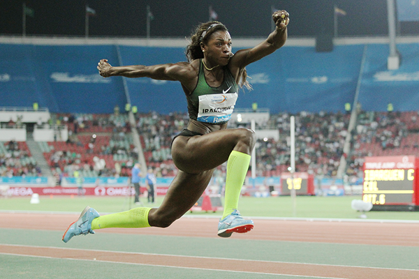 Caterine Ibarguen in the triple jump at the IAAF Diamond League meeting in Rabat (Jean-Pierre Durand)