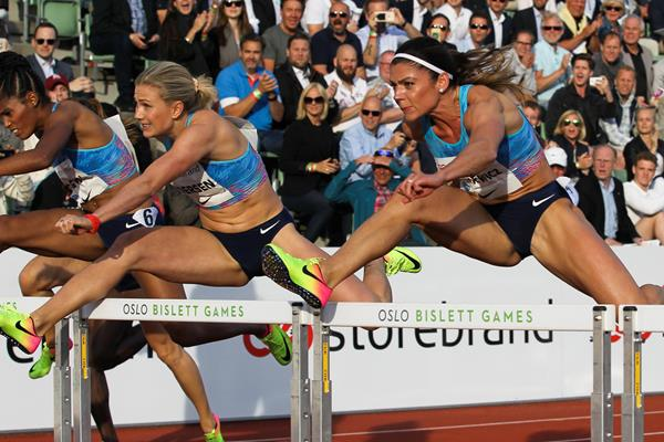Pamela Dutkiewicz racing to victory in Oslo (Jean Pierre Durand)