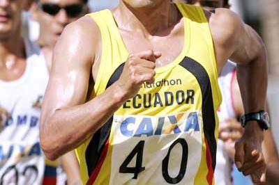 Jefferson Pérez at Pan-American Race Walking Cup (Wander Roberto Oliveira/CBAt)