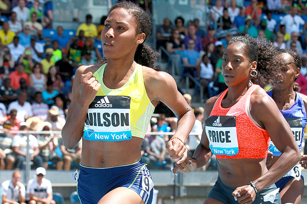 Ajee Wilson, winner of the 800m at the IAAF Diamond League meeting in New York (Victah Sailer)