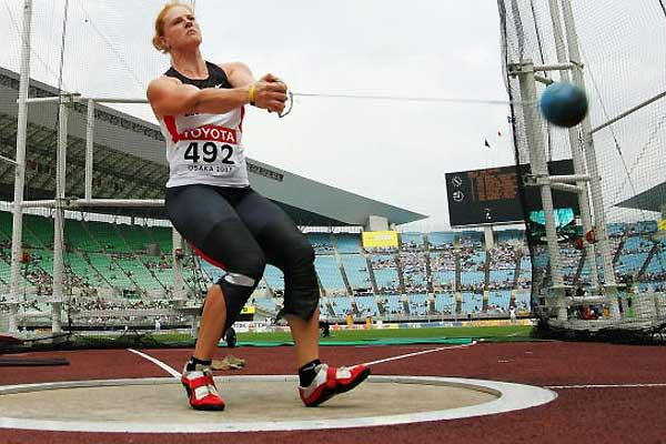 Betty Heidler of Germany - Hammer Throw qualification (Getty Images)