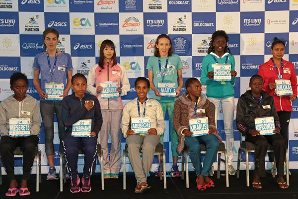 2017 Gold Coast Marathon women's elite field (organisers)