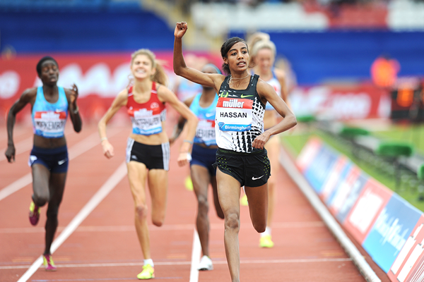 Sifan Hassan wins the 3000m at the IAAF Diamond League meeting in Birmingham (Mark Shearman)